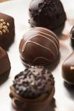 Het gastronomische Buitensporige Donkere Suikergoed van de Chocoladetruffel Stock Foto