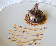 Het gastronomische Dessert van de Chocolade royalty-vrije stock fotografie