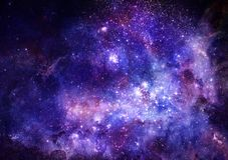 Het gaswolk van de nevel in diepe kosmische ruimte vector illustratie