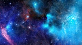 Het gaswolk van de nevel in diepe kosmische ruimte royalty-vrije illustratie