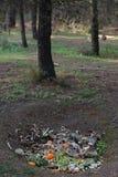 Het gat van de compostgrond Royalty-vrije Stock Foto