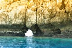 Het gat van de rots met overzees Stock Afbeelding