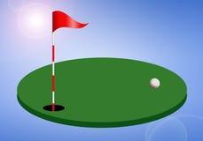 Het gat van het golf met vlag stock illustratie