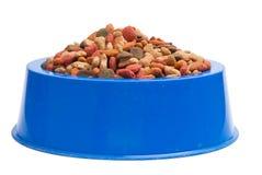 Het GeïsoleerdeàWit van het Voedsel voor huisdieren Kom op Achtergrond royalty-vrije stock afbeeldingen