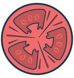 Het Geïsoleerde aangepast en editable Pictogram van de tomatenlijn Vector vector illustratie