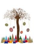 Het geïsoleerde concept van de kunstboom royalty-vrije illustratie