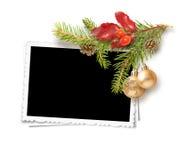 Het geïsoleerde frame van Kerstmis Stock Foto