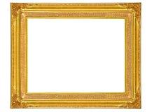 Het geïsoleerde gouden houten Frame van de Foto Royalty-vrije Stock Foto's