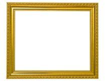 Het geïsoleerde. gouden houten Frame van de Foto Royalty-vrije Stock Foto