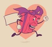 Het geïsoleerde karakter van het de doosbeeldverhaal van de valentijnskaartengift vector illustratie