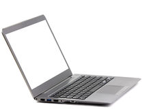 Het geïsoleerde lichtgewichtlaptop computer witte scherm Royalty-vrije Stock Foto