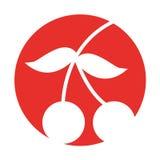 Het geïsoleerde pictogram van het kersen verse fruit stock illustratie