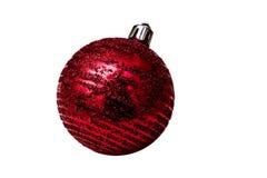 Het geïsoleerde stuk speelgoed van de Kerstmis rode boom op een witte achtergrond Royalty-vrije Stock Afbeeldingen