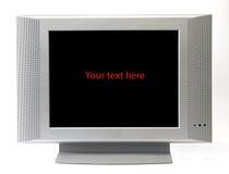 Het geïsoleerded frame van het televisiescherm Stock Foto