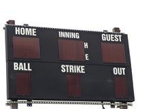Het geïsoleerded Scorebord van het Honkbal Stock Afbeelding
