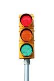 Het geïsoleerdee licht van het Verkeerslicht Stock Afbeeldingen