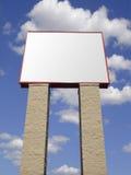 Het geïsoleerdee teken van Storefront in steen, Stock Foto's