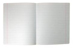 Het geïsoleerdel dubbele blad voerde uitgespreid notadocument Stock Foto's