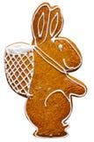 Het geïsoleerdem konijn van Pasen - Royalty-vrije Stock Afbeeldingen