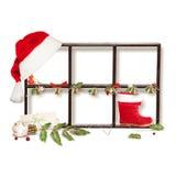 Het geïsoleerden frame van Kerstmis royalty-vrije stock foto