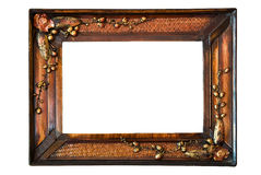 Het geïsoleerdep houten Frame van de Foto Royalty-vrije Stock Foto