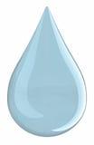 (Het geïsoleerder) druppeltje van het water Royalty-vrije Stock Foto's
