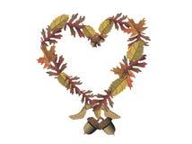 Het geïsoleerder thema van de herfst, Stock Afbeeldingen