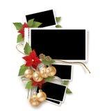 Het geïsoleerdes frame van Kerstmis Stock Afbeelding