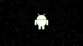 Het geanimeerde androïde dansen stock video