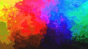 het geanimeerde bevlekte volledige spectrum van de achtergrond naadloze lijn videopastelkleur stock footage