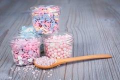 Het geassorteerde suikergoed bestrooit royalty-vrije stock foto's