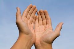 Het gebaar bidt Stock Fotografie