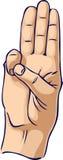 Het gebaar van de de eerhand van de verkenner vector illustratie