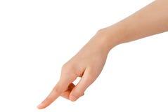 Het gebaar van de hand Stock Fotografie