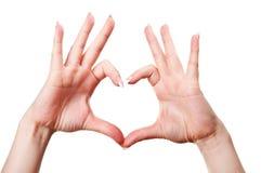 Het gebaar van de hand Stock Foto