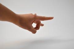 Het gebaar van de hand Royalty-vrije Stock Fotografie