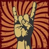 Het gebaar van dient vector in grunge Stock Foto