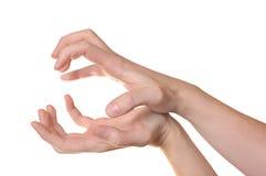 Het gebaar van handen Stock Fotografie