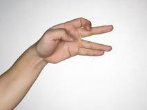 Het gebaar van handen Stock Foto's