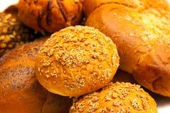 Het gebakje van de close-up met sesamzaad Royalty-vrije Stock Foto's