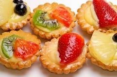 Het gebakje van het fruit Stock Afbeelding