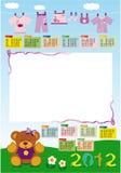 het gebaseerde meisje van 2012 kalender Stock Afbeeldingen