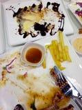 Het gebeëindigde eten Stock Foto