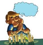 Het gebed stock illustratie