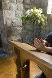Het gebed van de kerk Royalty-vrije Stock Foto