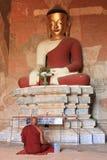 Het gebed van de monnik Stock Foto