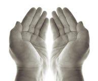 Het gebed van handen Stock Fotografie