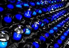 Het Gebedkaarsen van heilige Louis Basilica Side Altar Blue royalty-vrije stock fotografie