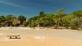 Het gebied in een kusttoevluchtstreek op eiland aan Lan in Pattaya Stock Foto
