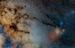 Het gebied en de nevels van de ster Stock Foto